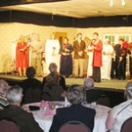 actors from scene Blythe-Spirit at BCC Dinner Theatre
